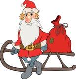 Święty Mikołaj i boże narodzenie prezentów kreskówka ilustracji