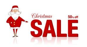 Święty Mikołaj i boże narodzenie sprzedaż Obraz Stock