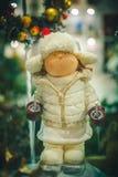 Święty Mikołaj i boże narodzenie zabawki Obrazy Royalty Free