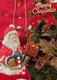 Święty Mikołaj i Bożenarodzeniowy prezent Obraz Royalty Free