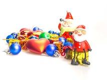 Święty Mikołaj i prezenty pudełko Obraz Royalty Free