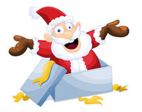 Święty Mikołaj ilustracja Zdjęcia Royalty Free