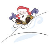 Święty Mikołaj jazda Obraz Royalty Free