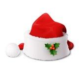 Święty Mikołaj kapelusz Fotografia Stock