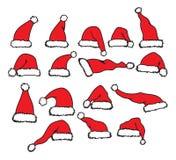 Święty Mikołaj kapelusz Obrazy Stock