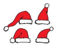 Święty Mikołaj kapelusz Fotografia Royalty Free