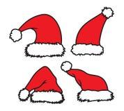 Święty Mikołaj kapelusz Obrazy Royalty Free