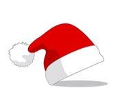 Święty Mikołaj kapelusz, wektor Obrazy Stock