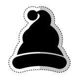 Święty Mikołaj kapeluszu ikona Obrazy Stock