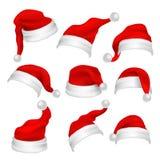 Święty Mikołaj kapeluszy fotografii budka czerwoni wsparcia Bożenarodzeniowi wakacyjni dekoracja wektoru elementy ilustracji