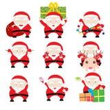 Święty Mikołaj kartki bożonarodzeniowa Fotografia Stock
