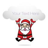 Święty Mikołaj klamerki sztuka Obraz Stock