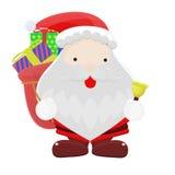 Święty Mikołaj kreskówka obrazy stock