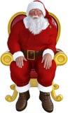Święty Mikołaj, krzesła obsiadanie, odizolowywający ilustracji