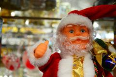Święty Mikołaj lala dla twój broszurki i sztandaru Fotografia Royalty Free