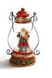 Święty Mikołaj lampa Zdjęcia Stock