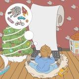 Święty Mikołaj list Zdjęcia Royalty Free