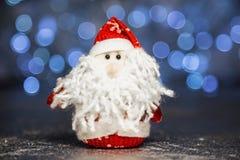 Święty Mikołaj lub ojciec Oszroniejący z bożonarodzeniowe światła Fotografia Stock