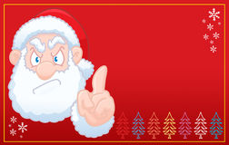 Święty Mikołaj mówi boże narodzenie żadną czerwoną kartkę Obraz Royalty Free