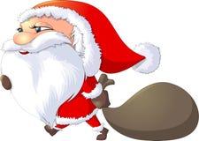 Święty Mikołaj malował na białym tle Obraz Stock