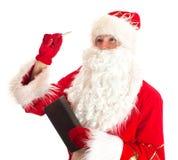 Święty Mikołaj myśleć Zdjęcia Stock