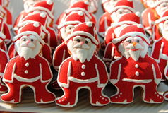 Święty Mikołaj na słońcu, Kolorowi, Unikalni, Bożenarodzeniowi ciastka, Fotografia Royalty Free