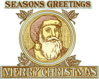 Święty Mikołaj ojca Bożenarodzeniowa Uświęcona akwaforta royalty ilustracja