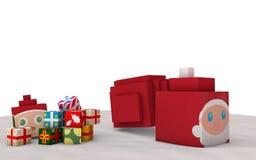 Święty Mikołaj Prezenty Zdjęcie Royalty Free