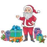 Święty Mikołaj prezenty Zdjęcia Stock