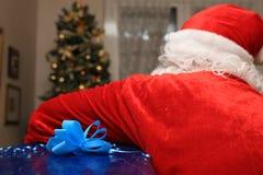 Święty Mikołaj przewożenia prezenty Obraz Royalty Free
