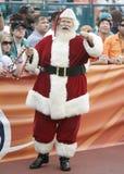 Święty Mikołaj przy nfl game zdjęcia stock