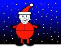 Święty Mikołaj Przy Noc ilustracja wektor