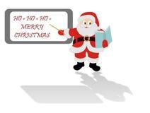 Święty Mikołaj przy szkołą Zdjęcie Stock