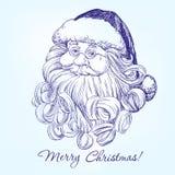 Święty Mikołaj ręka rysujący wektor ilustracja wektor