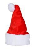Święty Mikołaj Red Hat Odizolowywający Na bielu Fotografia Royalty Free