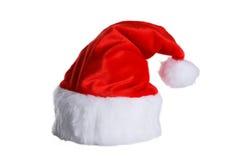 Święty Mikołaj Red Hat Odizolowywający Na bielu Obraz Royalty Free