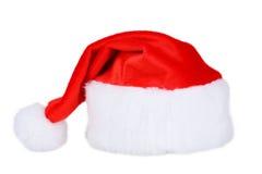 Święty Mikołaj Red Hat Odizolowywający Na bielu Obrazy Stock