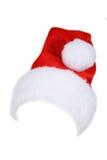 Święty Mikołaj Red Hat Odizolowywający Na bielu Fotografia Stock