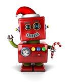 Święty Mikołaj robot ilustracja wektor