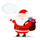 Święty Mikołaj rozmowa Obrazy Royalty Free