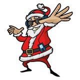 Święty Mikołaj słucha gracz Obrazy Royalty Free