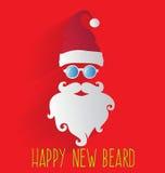 Święty Mikołaj, Szczęśliwa Nowa broda Zdjęcia Stock