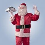 Święty Mikołaj szef kuchni Zdjęcia Royalty Free
