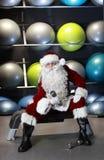 Święty Mikołaj target798_1_ przed Bożymi Narodzeniami Zdjęcie Stock