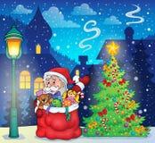 Święty Mikołaj tematu wizerunek 3 Zdjęcia Stock