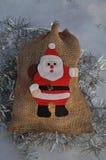 Święty Mikołaj torba Zdjęcie Royalty Free