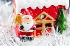Święty Mikołaj w śniegu Fotografia Royalty Free
