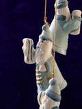 Święty Mikołaj w błękit Fotografia Stock