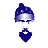 Święty Mikołaj w błękitnej nakrętce Obraz Stock