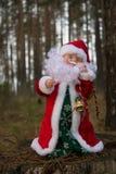 Święty Mikołaj w lesie Obrazy Royalty Free